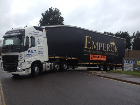 Andover take delivery of new Double Deck Trailer