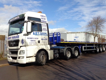 Poole take delivery of brand new Montracon Flatbed